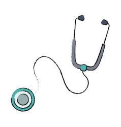 Stethoscope tool icon vector