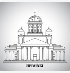 Symbol helsinki finland - cathedral vector