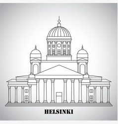 The symbol helsinki finland - cathedral vector