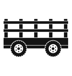 trail tractor icon simple style vector image