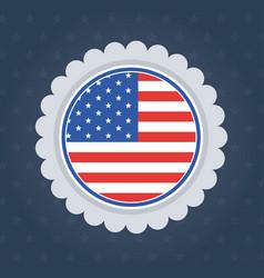 Usa flag seal stamp design vector