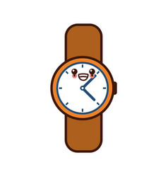 Vintage wristwatch accesorie cute kawaii cartoon vector