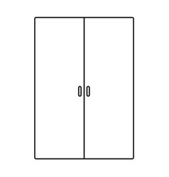 wardrobe line icon vector image