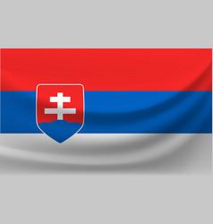 waving national flag slovakia vector image