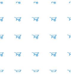 Wheel barrow icon pattern seamless white vector