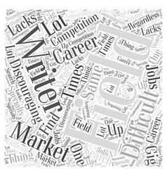 Writer market Word Cloud Concept vector