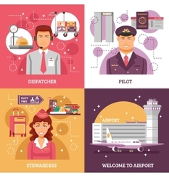 Airport Design Concept vector image vector image