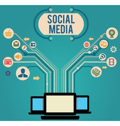 Concept of social media vector image vector image