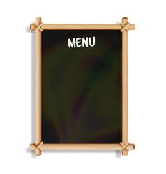 menu board cafe or restaurant menu bulletin black vector image vector image