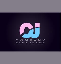 oj alphabet letter join joined letter logo design vector image vector image