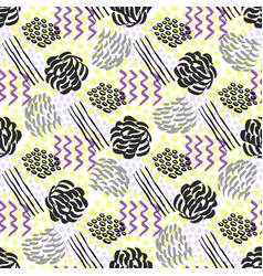 Seamless pattern with grunge textures fashion vector