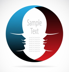 The design of the face vector image