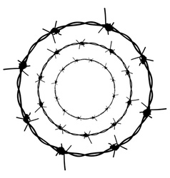 Barbed Wire Silhouette5 vector image vector image