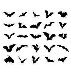 Bats silhouettes set vector