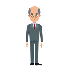 cartoon business man cartoon character young male vector image