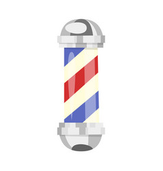 cartoon style of barber pole vector image