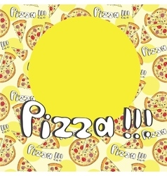Doodle style pizza seamless cover fore menu vector image vector image