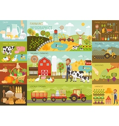 Farming Infographic set vector image