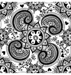 Hand drawn abstract seamless gzhel pattern for vector