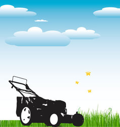 Lawn Mower background vector image vector image