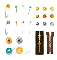 Metal Accessories Set vector image