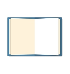 Open notebook isolated on white vector image