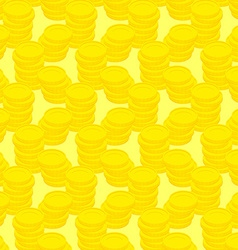 Pile gold coins seamless pattern money background vector image