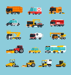 special and emergency transport infographics vector image vector image