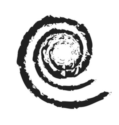 Spiral icon grunge texture vector image vector image