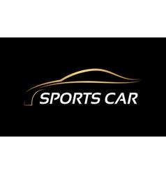 Sports car LOGO vector image vector image