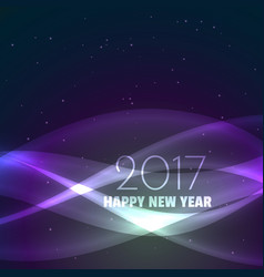 amazing 2017 happy new year background with shiny vector image vector image