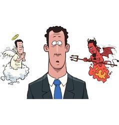 between angels and demons vector image vector image
