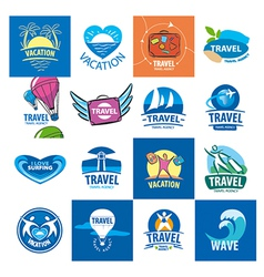 biggest collection of logos for travel and tourism vector image vector image
