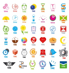 biggest collection of logos time vector image vector image