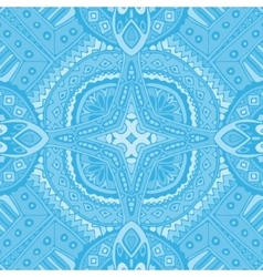 blue seamless geometric doodle tiles vector image vector image