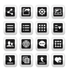 Menu settings tools buttons set vector image