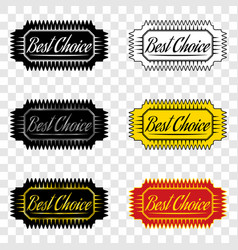 best choice ribbon of best choice vector image