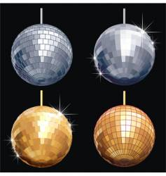 disco-ball set vector image