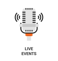 live events icon vector image