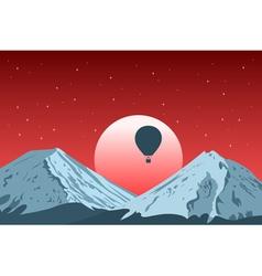 mountain sunset vector image