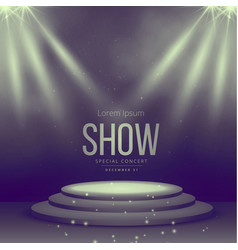 podium with spotlights falling on it vector image vector image