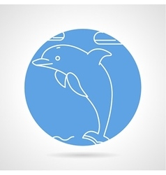 Round icon for dolphin vector image vector image