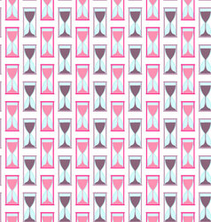 Seamless background hourglass vector