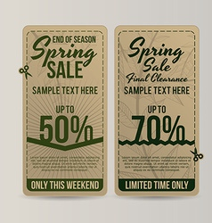 spring sale vector image
