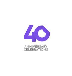40 years anniversary celebration logo icon vector
