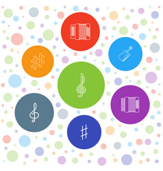 7 classical icons vector