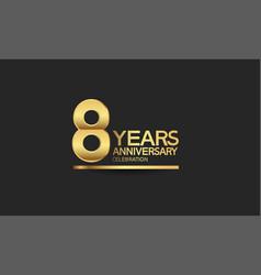 8 years anniversary celebration with elegant vector