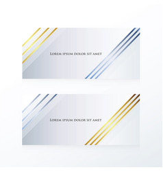Abstract line banner gold and blue vector
