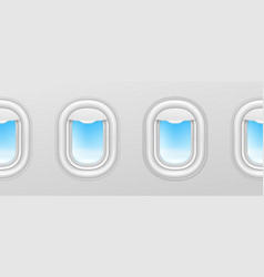 aircraft windows airplane illuminators plane vector image