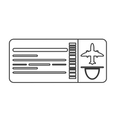 Airplane ticket icon line design vector